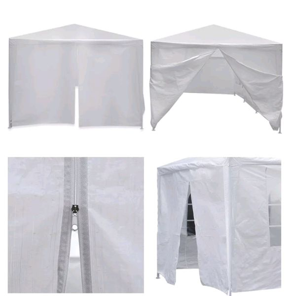 Patio Vendor Gazebo Large Outdoor Easy Up Shade Event Tent ,Barbecue Griil Bbq Top For Patio Set Poolside Grill Area Parties