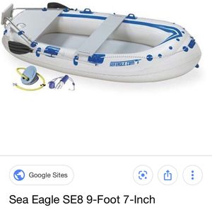 sea eagle 8se inflatable fishing boat only used 5 times ! Also the boat is titled and has good tags for Sale in Farmersville, TX