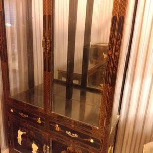 """Chinese Curio Cabinet And Console Table """"Mother Of Pearl"""" for Sale in Hollywood, FL"""