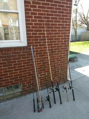 Fishing rods for Sale in Dearborn Heights, MI