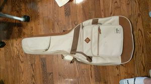 White fabric and brown suede electric guitar gig bag - great quality for Sale in Greenville, NC