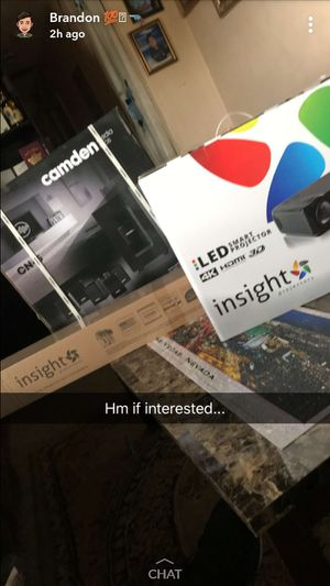 LED INSIGHT HOME PROJECTOR IS670 72 INCH 4K WILL THROWN IN HOME SPEAKERS for Sale in Miami, FL