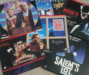6 LaserDisc Movie Disc Lot Salems Lot Psycho IV American Gothic The Funhouse Brides of Dracula Horror for Sale in Tampa, FL