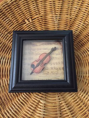 Small violin picture frame for Sale in Austin, TX