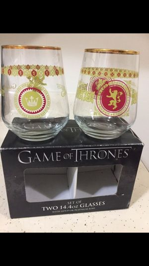 Game of thrones collection glasses for Sale in San Pablo, CA