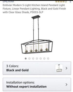 Emliviar modern 5-Light kitchen island pendant light fixture for Sale in Rancho Cucamonga, CA