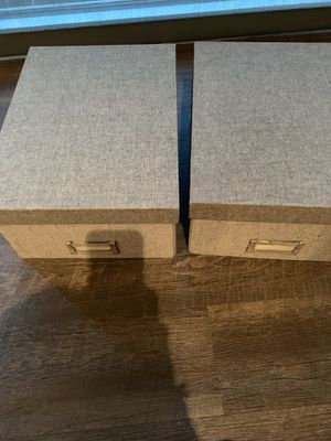 Set of 2 Container Store Grey Storage Boxes for Sale in Houston, TX