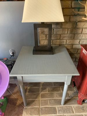 Grey side table for Sale in Roanoke, VA