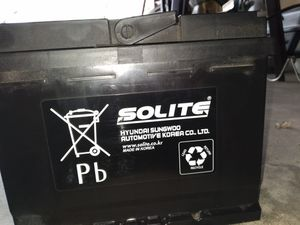"""( New ) Car Battery """" Solite """" for Sale in Streamwood, IL"""