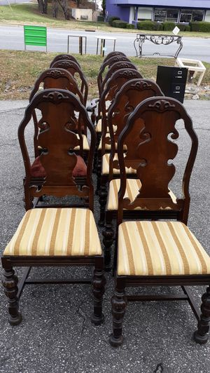 Super Nice High End Antique Set Of 11 Chairs for Sale in High Point, NC