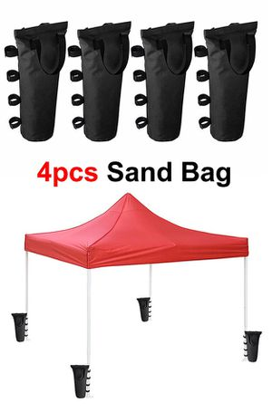 Brand New $15 (Pack of 4) Canopy Weight Bags for EZ Pop Up Tents (Bag only, Sand and Tent not included) for Sale in Pico Rivera, CA