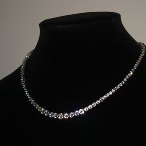 Sterling Silver Lab Diamond Tennis Chain for Sale in New York, NY