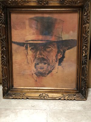 Clint Eastwood Print & Frame for Sale in Mulberry, FL