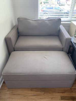 Pull-Out Sofa & Matching Ottoman for Sale in Portland, OR