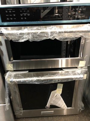 *NEW* Stainless steel KitchenAid Microwave/Wall Oven Combo for Sale in Snohomish, WA