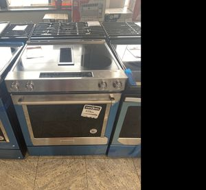 KitchenAid stainless steel electric glass top stove #929 for Sale in South Farmingdale, NY