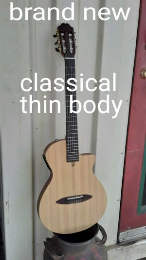 Brand new Chet Atkins style thin body classical nylon string guitar for Sale in Lebanon, TN