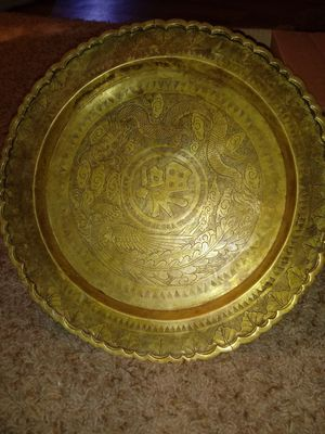 Engraved chinese brass plate for Sale in Colorado Springs, CO