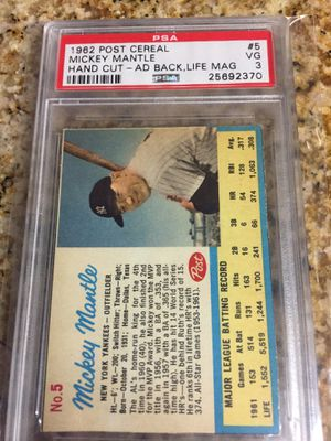 Baseball cards, vintage Mantle , Ford, Robinson ,$100 for Sale in Torrance, CA