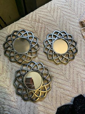 3 wall flower mirrors for Sale in Fresno, CA