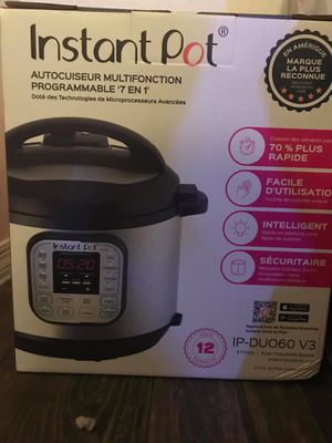 Instant pot programmable pressure cooker pot 6qt for Sale in Plant City, FL