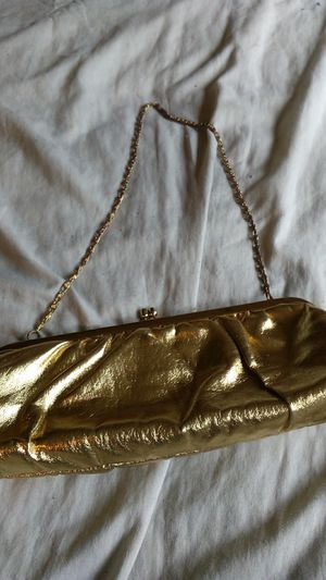Lovely N.Y. gold clutch with chain for Sale in San Francisco, CA