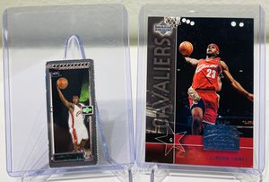 (2) LeBron James Rookie Cards! Plus Bonus Cards! Cleveland Cavaliers! The Los Angeles Lakers! for Sale in Dallas, TX