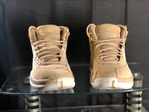 Women's Air Jordan Retro 12 Gold and White for Sale in Southern Pines, NC