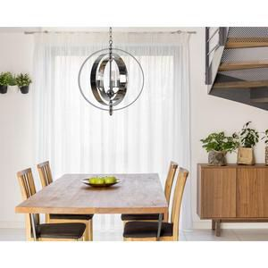 Kenroy Home Jaquelyn 3-Light Chrome Chandelier with Clear Glass Shade for Sale in Houston, TX