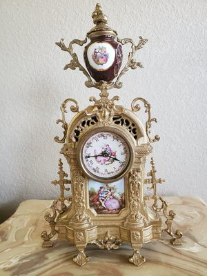 Antique clock porcelain and bronze for Sale in Tampa, FL