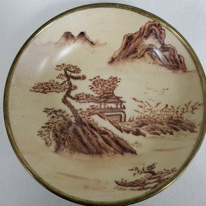 """Hand Painted Japanese Porcelain Ware Metal Cased 5.5"""" Bowl for Sale in Miami, FL"""