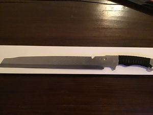 Black Cord Full Tang 420 Stainless Steel Machete for Sale in Moreno Valley, CA