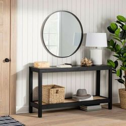 26 Round Decorative Wall Mirror Black - Threshold designed with Studio McGee for Sale in Las Vegas,  NV