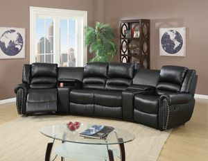 Black Theater Sectional on SALE Rock & Recline for Sale in Fresno, CA