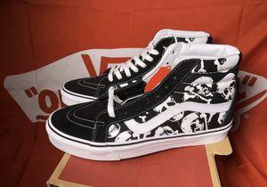 💀 Skull Vans Sk8 hi shoes Size 7.5 10 10.5 Men Brand New in the box for Sale in Apple Valley, CA