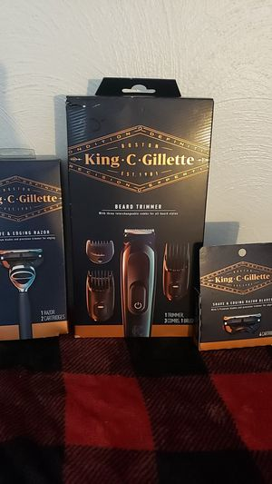 King beard trimmer and razor with blades for Sale in South Bend, IN