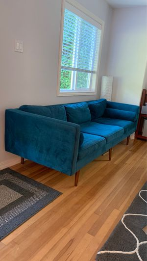 West Elm Jewel Blue Couch for Sale in Portland, OR