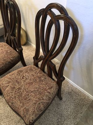 Gorgeous pair of wood dining chairs for Sale in Gilbert, AZ