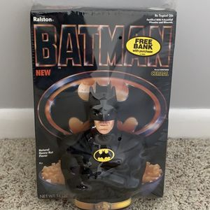 Vintage 1989 Batman Ralston Cereal & Coin Bank Toy Collectible for Sale in Purcellville, VA