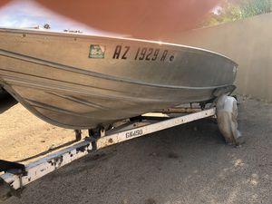 Welded Gregor wide aluminum boat and trailer for Sale in Scottsdale, AZ