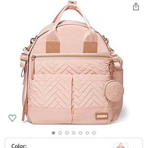 Skip Hop Diaper Bag Backpack: Suite 6-in-1 Diaper Backpack Set, Multi-Function Baby Travel Bag, Blush for Sale in Redwood City, CA