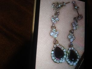 Diamond and sapphire ear rings for Sale in Oskaloosa, IA
