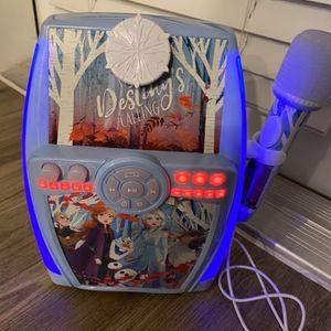 Disney's Frozen 2 Karaoke Machine by KIDdesigns for Sale in San Antonio, TX