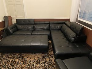 Black Pleather Sectional for Sale in FL, US