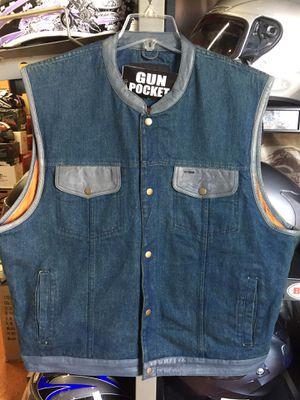 New denim motorcycle vest $70 for Sale in Whittier, CA