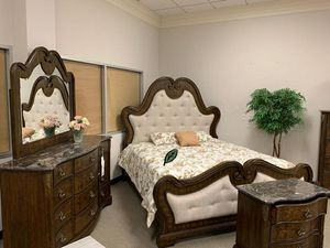 Best DEAL 🍺🍾  FREE Delivery  👍 Isabel Brown Panel Bedroom Set [FREE CHEST] 312 for Sale in Houston, TX