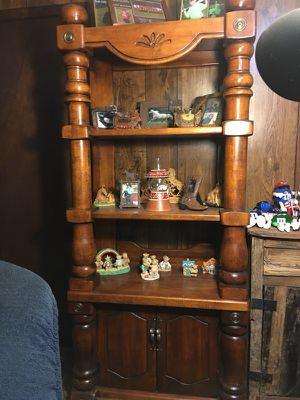 solid oak shelf unit for Sale in Malvern, AR