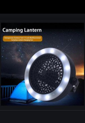 2in1 Portable Camping Combo LED Lantern and Fan Tent Camping Light ~Brand new~ for Sale in Alhambra, CA