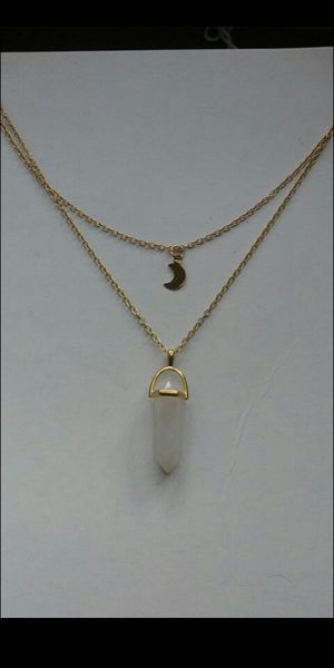 "18-24"" gold plated rose quartz stone 2 layers chain for Sale in Richmond, CA"