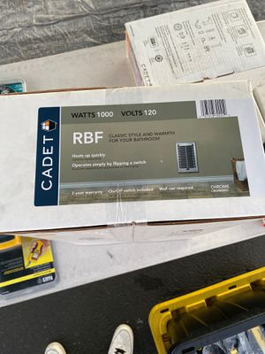 Cadet RBF Series 1000-Watt 120-Volt Electric Fan-Forced In-Wall Bath Heater Chrome for Sale in Los Angeles, CA